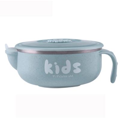 【Ti-living 】 純鈦兒童注水保溫保冷碗 附吸盤(共3色可選)