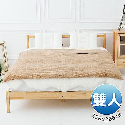 日本藤田 日本發熱吸濕節能兩用毯(卡其)雙人