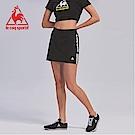 le coq sportif 法國公雞牌彈性吸排側邊直條紋印花短裙 女-黑