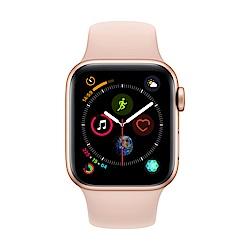 [無卡分期-12期] Apple Watch S4 GPS 40mm 金色鋁錶殼搭粉色錶帶