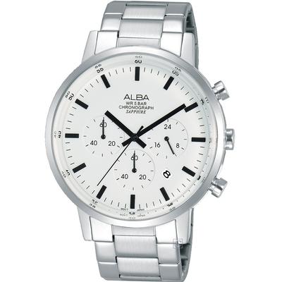 ALBA雅柏 Prestige 時尚三眼計時腕錶 VD53-X296S(AT3D35X1)-42mm