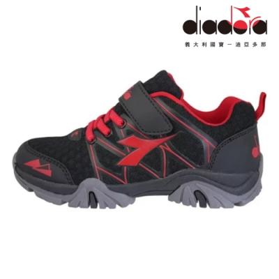 Diadora 兒童戶外水陸鞋 中童 超寬楦 黑 DA9AKO7190