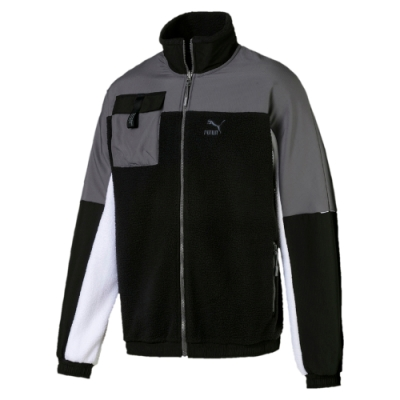 PUMA-男性流行系列XTG Trail立領外套-黑色-歐規