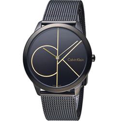 Calvin Klein minimal 大ck簡約時尚腕錶(K3M214X1)
