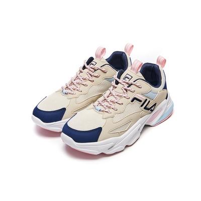 FILA BEATS TRACER 2.0 女慢跑鞋-米/藍 5-J526V-109