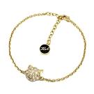 Karl Lagerfeld CHOUPETTE璀璨水晶貓咪造型金色手環手鍊
