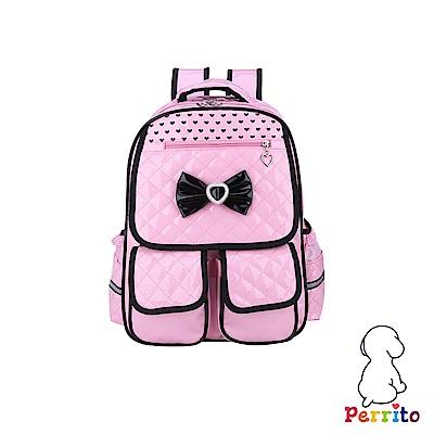 Perrito 貝瑞童「公主寶貝」核心護脊兒童書包-粉紅色