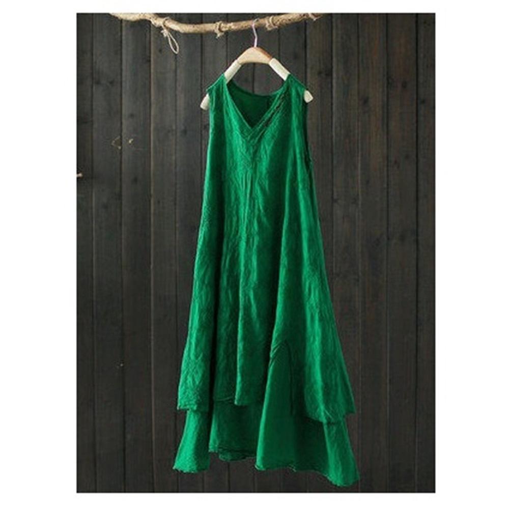 提花刺繡背心裙超仙森系長洋裝-設計所在