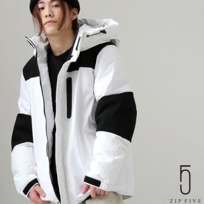 ZIP日本男裝 防潑水加工防寒機能性鋪棉連帽外套夾克 素色/拼接/滿版圖紋 (7色)