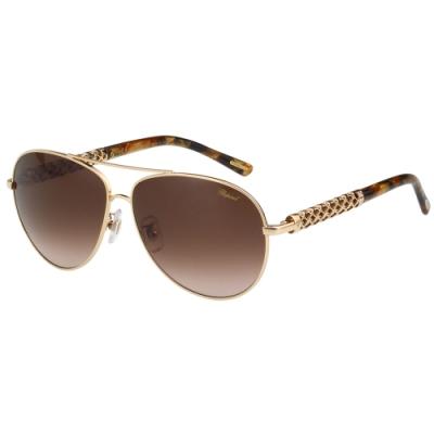 Chopard 水鑽 太陽眼鏡(金色)SCHB66S