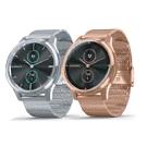 GARMIN vivomove luxe 指針智慧腕錶(米蘭式編織錶帶)