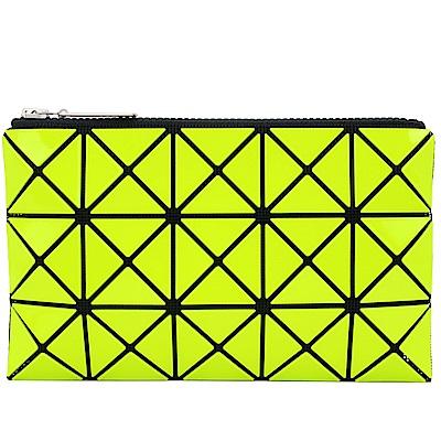 ISSEY MIYAKE 三宅一生BAOBAO 3x5幾何方格長型亮面零錢手拿包(黃)