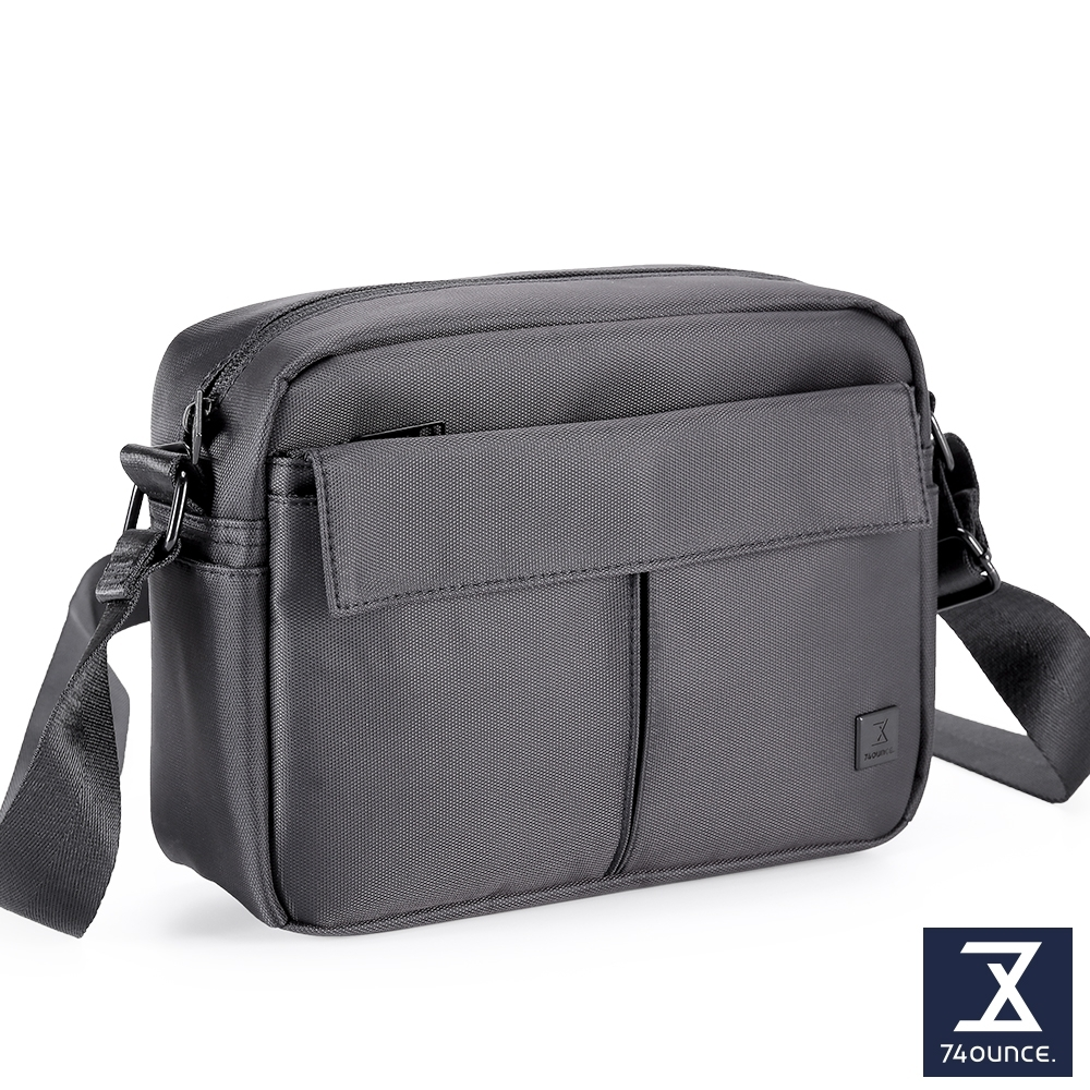 74盎司 U系列 單層雙口袋側背包[G-1041-U-M]黑