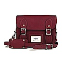 The Leather Satchel 英國手工牛皮劍橋包 肩背 後背包 葡萄紅 8.5吋