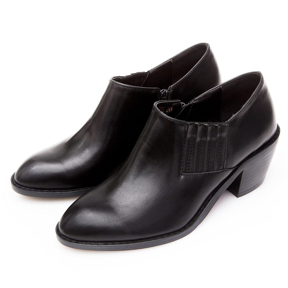 Camille's 韓國空運-造型繃帶西部短靴-黑色