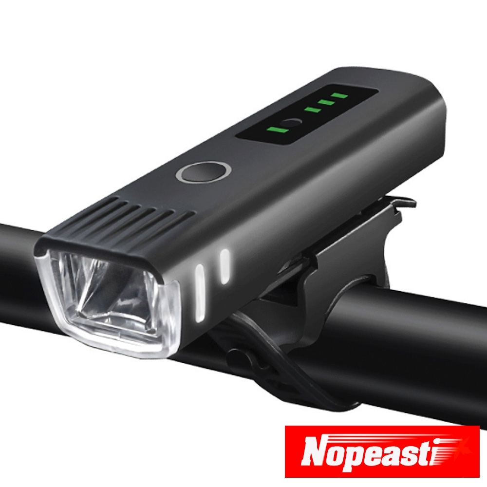Nopeasti諾比 USB四段式LED智能感應防水警示自行車頭燈
