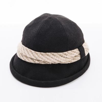 ELLE法式浪漫優雅毛呢帽_灰/黑/咖/卡其