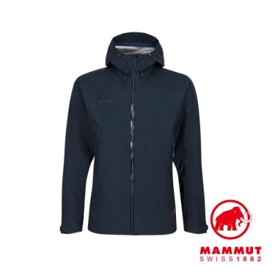 【Mammut 長毛象】Convey Tour HS Hooded Jacket GTX防風防水連帽外套 海洋藍 男款 #1010-27840