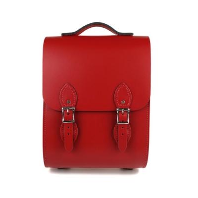 The Leather Satchel 英國手工牛皮溫莎小後揹包 手提包 心機紅