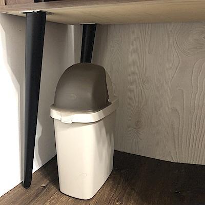 創意達人梅恩掀蓋式垃圾桶9L-3入組