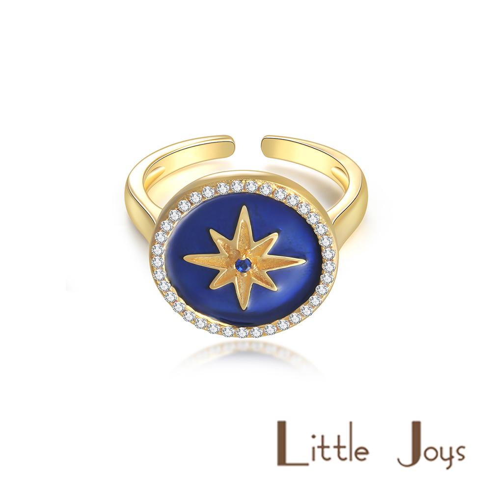 Little Joys 原創設計品牌 寶石藍六芒星戒指 925銀鍍金