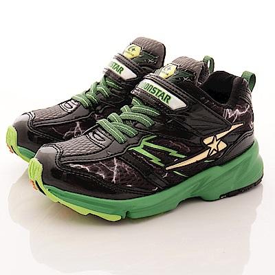日本月星頂級競速童鞋 閃電魔爪運動款  7856 黑(中大童段)