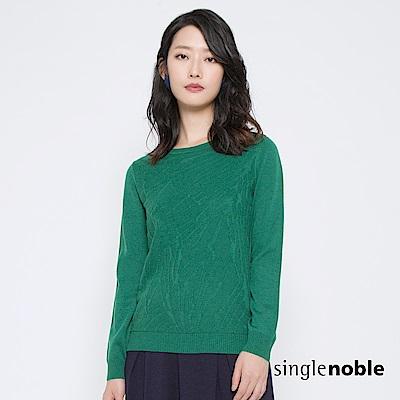 獨身貴族 俯瞰自然不規則織紋針織衫(2色)