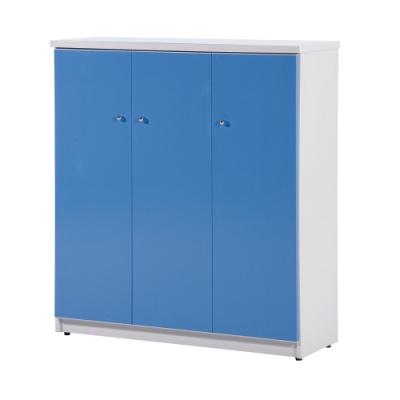 顛覆設計 防水塑鋼3.2尺三門繽紛鞋櫃(六色可選)-96x33x106cm
