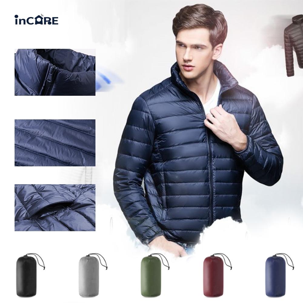 速【Incare】男款修身立領輕羽絨外套-5色可選(贈收納袋)