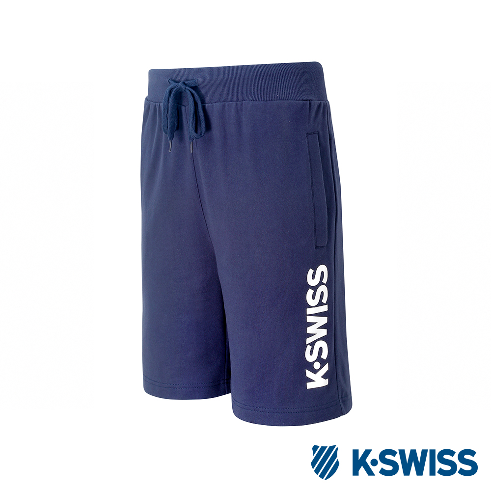 K-SWISS KS Logo Sweatshorts棉質短褲-男-藍