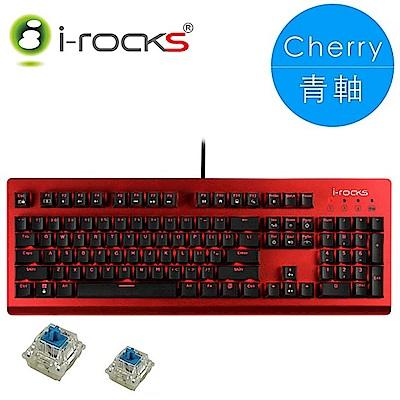 i-Rocks IRK65MS單色背光機械式鍵盤-紅蓋[Cherry青軸]