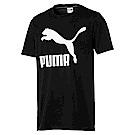 PUMA-男性流行系列經典Logo短袖T恤-黑色-歐規