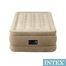 INTEX超厚絨豪華單人充氣床-寬99cm(內建幫浦-fiber tech)(64455)