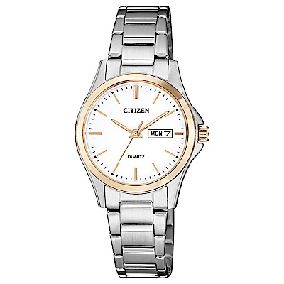 CITIZEN 都會新時尚石英女錶(EQ0596-87A)-白x26.5mm