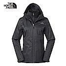 The North Face北面女款黑色防風防水三合一外套|3V9DKX7