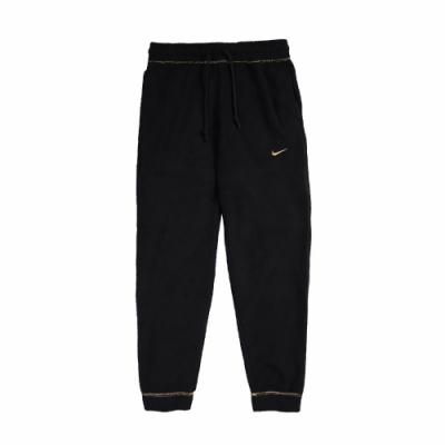 Nike 長褲 Training Trousers 女款 運動休閒 縮口褲 抽繩 口袋 穿搭 黑 金 CU6046010