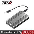 TEKQ 960G Rapide Thunderbolt 3 外接式SSD行動硬碟-太空灰