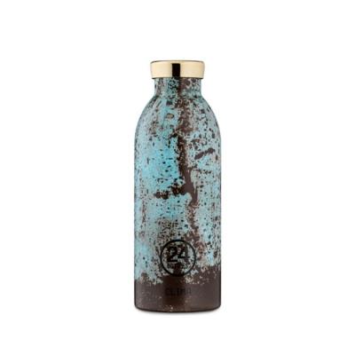 義大利 24Bottles 不鏽鋼雙層 保溫瓶 500ml - 青銅