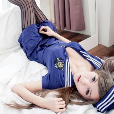 角色扮演服深藍水手制服 萌系軍裝水手服cosplay服裝 流行E線