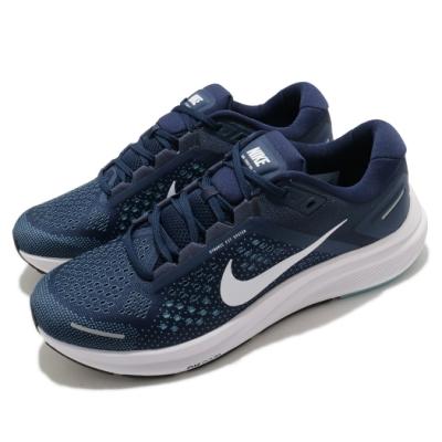 Nike 慢跑鞋 Zoom Structure 23 男鞋 氣墊 舒適 避震 路跑 健身 球鞋 藍 白 CZ6720402