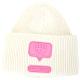 Chiara Ferragni eyelike 眨眼矽膠標誌美麗諾針織羊毛帽(米白色) product thumbnail 1