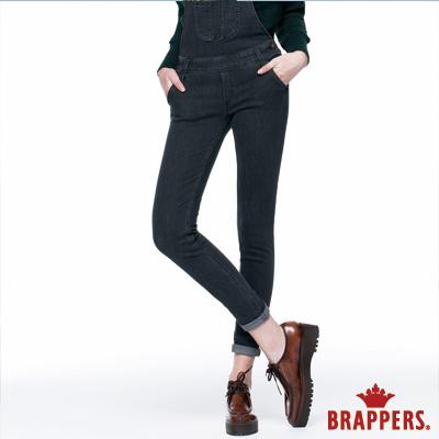 BRAPPERS 女款 Boy Friend系列-女用彈性吊帶窄管褲-灰黑
