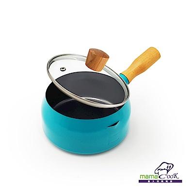 義大利Mama Cook輕量奶鍋組16cm 藍綠色(附蓋)(快)