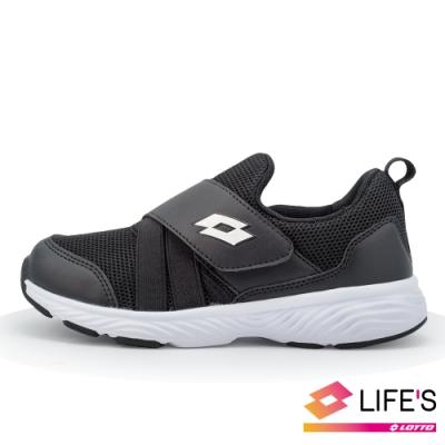 LOTTO 義大利 童 EASYWEAR 活力輕跑鞋(黑)