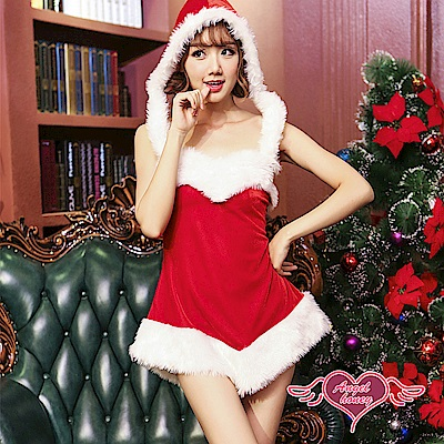 角色扮演 青春派對 聖誕連帽連身裙派對表演服(紅F) AngelHoney天使霓裳