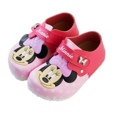 迪士尼童鞋 米妮 立體造型壓紋休閒鞋-粉