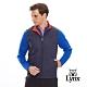 【Lynx Golf】男款雙面穿Fleece風衣布無袖背心-深藍色/橘色 product thumbnail 2