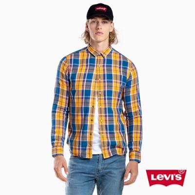 Levis 男女同款 雙面穿襯衫 格紋學院風