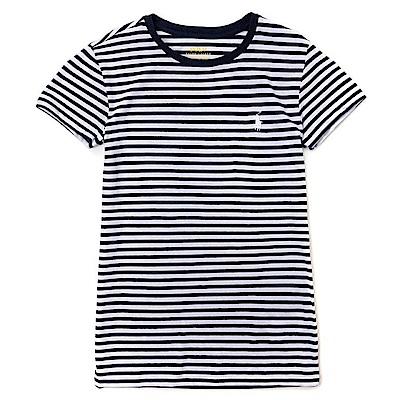 Polo Rlaph Lauren 熱銷小馬圓領素面短袖T恤(女)-深藍白色