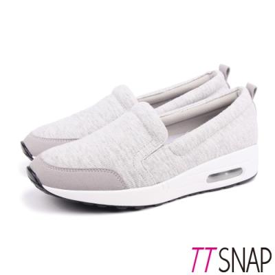 TTSNAP運動鞋-MIT真氣墊輕量透氣休閒鞋 灰